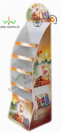 Custom Printed Pop Up Cardboard Display Stands / Shelves / Racks Corrugated Assembled