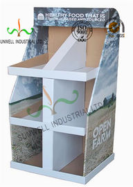 Food Presentation Cardboard Display Stands , Cardboard Product Display Stands